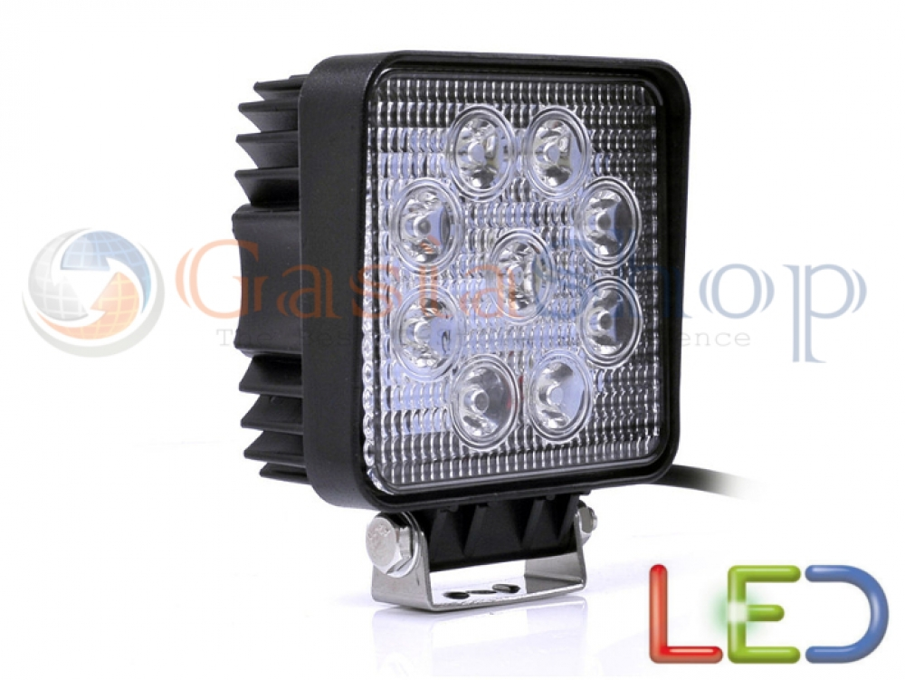 Faro led off road luce lavoro supplementare 12v 27w jeep for Faretti a led 12v