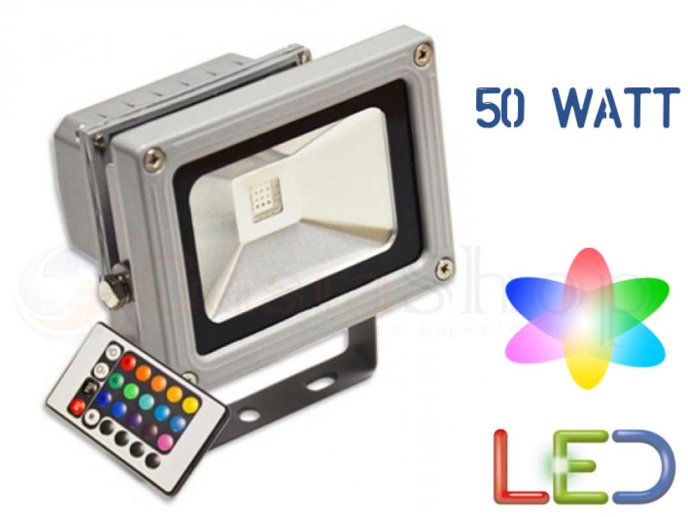 Faro faretto led rgb 50w alta luminosita con telecomando for B w da esterno