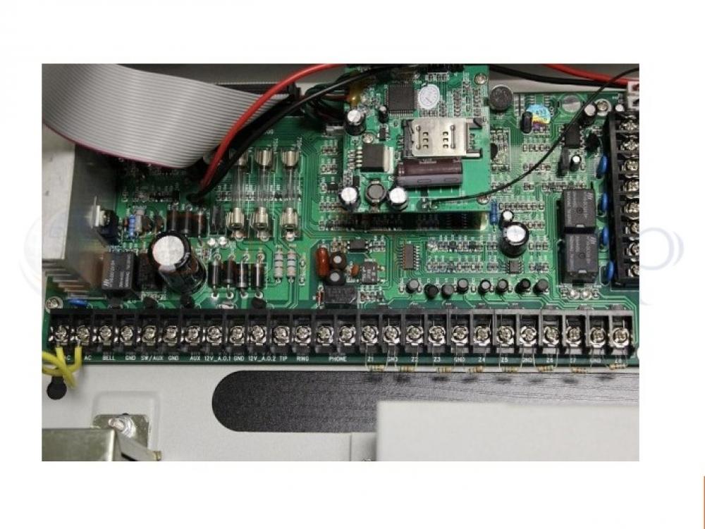CENTRALE ANTIFURTO ALLARME GOLEM MODULO COMBINATORE GSM PSTN WIRELESS E CABLATA AK8-51