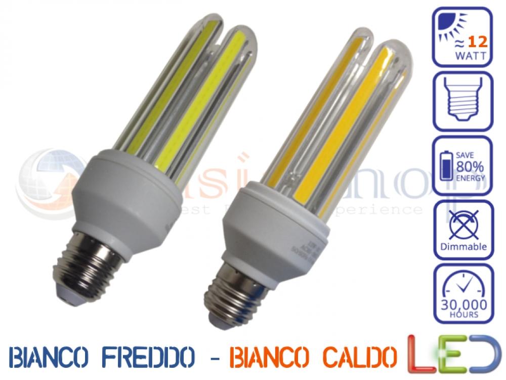 LAMPADINA COB LED E27 12W BIANCO FREDDO BIANCO CALDO ALTA LUMINOSITA u0026#39;   eBay -> Lampadario Led Alta Luminosità