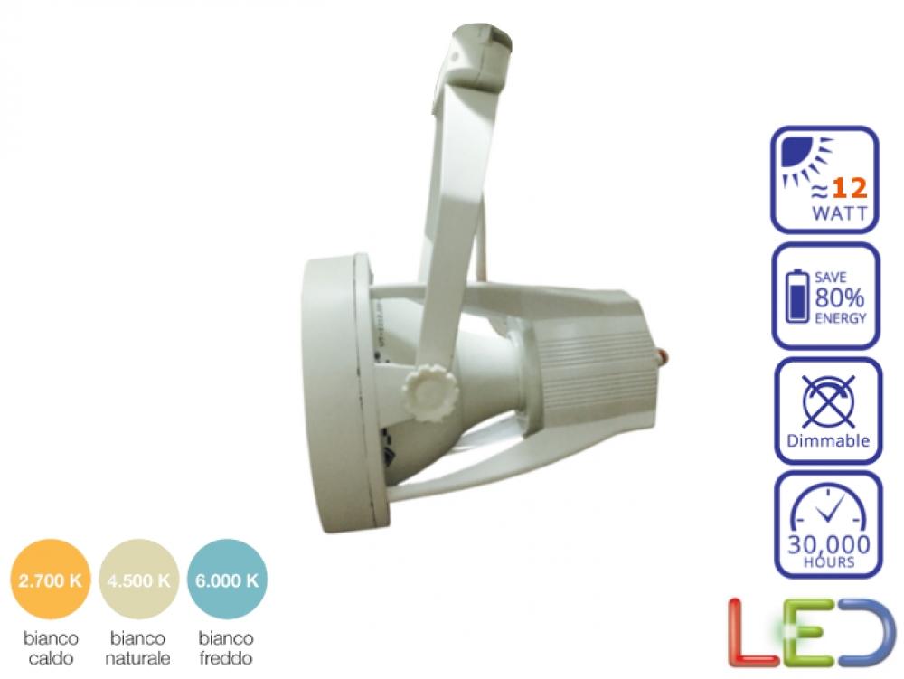 portalampada con lampada led par30 e27 12 watt bianco