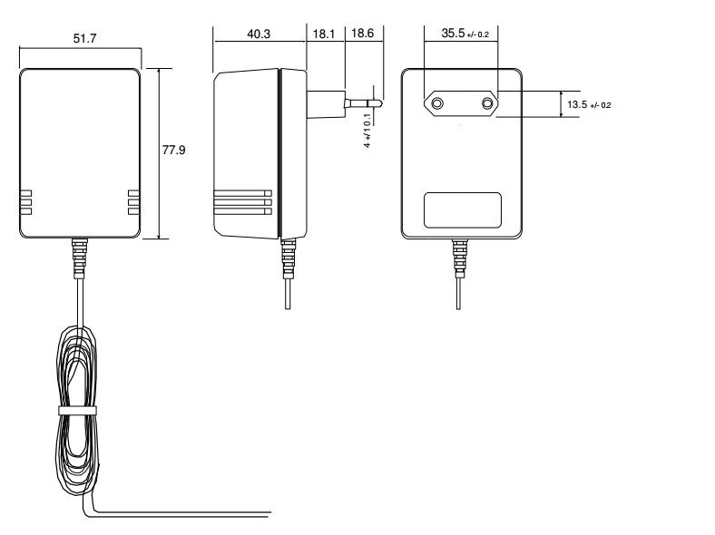 ALIMENTATORE SWITCHING 12V 2A PER CCTV TELECAMERA CIRCUITO CHIUSO