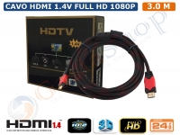 CAVO HDMI 1.4 3 METRI MT TV VIDEO BLU-RAY LCD FULLHD 3D HDTV