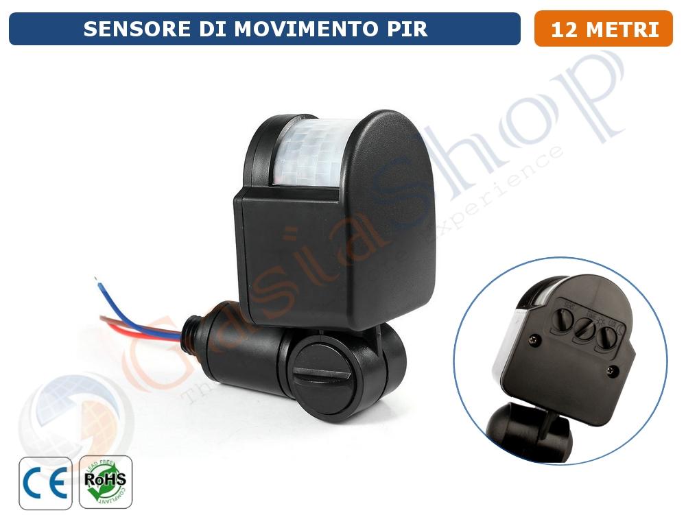 Rilevatore Di Presenza Per Accensione Luci.Sensore Movimento Pir Rilevamento Presenza Infrarossi Sensore Luce