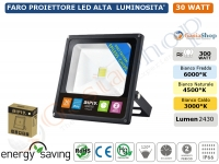 FARO FARETTO PROIETTORE A LED AIPIY SLIM 30W IP66 CHEAP LED EPISTAR
