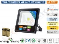 FARO FARETTO PROIETTORE A LED AIPIY SLIM 10W IP66 CHEAP LED EPISTAR
