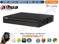DVR HDCVI IBRIDO NVR VIDEO 16 CH AUDIO/2CH IP WDI HDMI DAHUA HCVR4116HS-S2