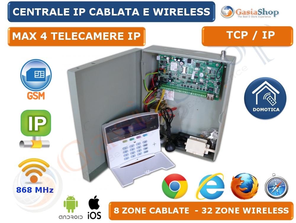 CENTRALE ANTIFURTO ALLARME DOMOTICA GSM TCP-IP GPRS LAN ...