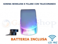 SIRENA ANTIFURTO WIRELESS 433MHz CABLATA