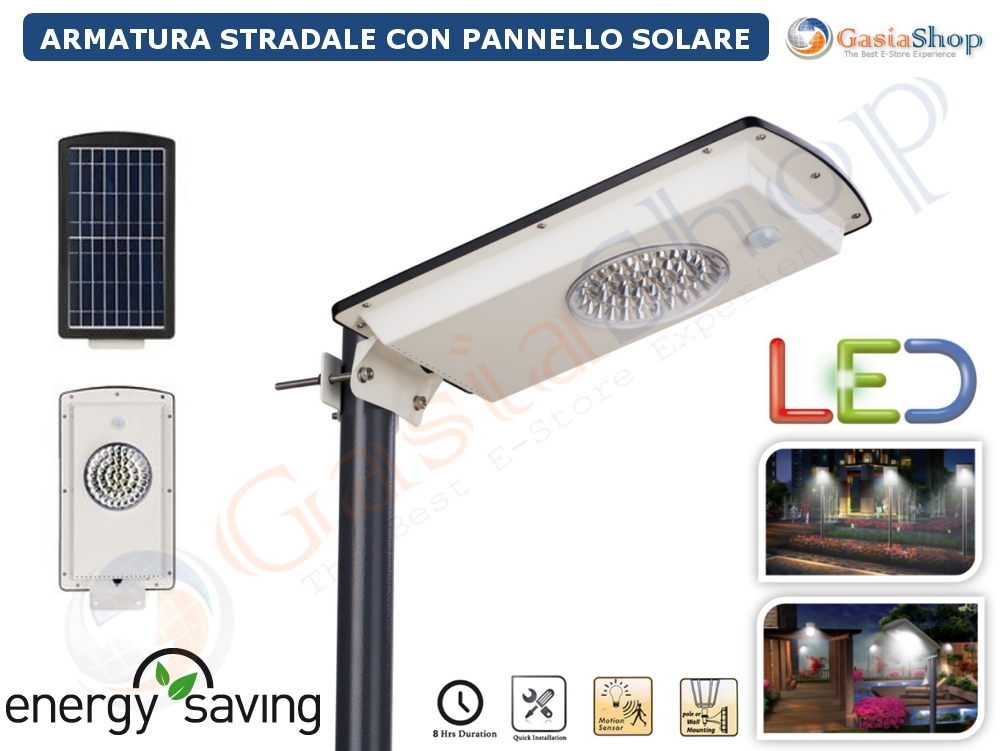 Lampione stradale ad energia solare a led lampione for Filtro per laghetto ad energia solare