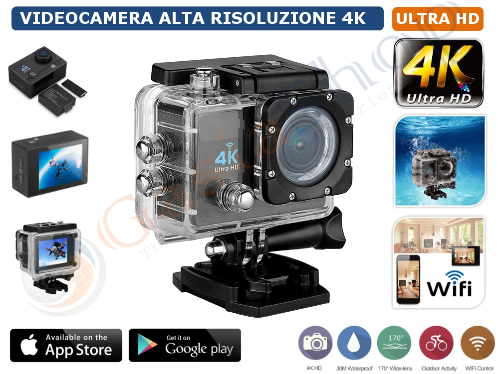 Action Camera Subacquea : Pro cam k megapixel sport wifi action camera ultra hd mp