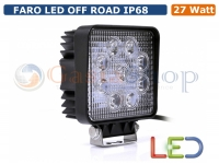 FARO LED OFF ROAD LUCE LAVORO SUPPLEMENTARE 12V 27W JEEP FUORISTRADA AUTO