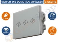 SWITCH SOFT TOUCH DOMOTICO