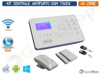 KIT ANTIFURTO CENTRALE ANTIFURTO WIRELESS 433 MHz CABLATO GSM