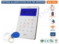 TASTIERA KEYPAD-RFID WIRELESS 868 MHZ TOUCH SCREEN PER CENTRALE DEFENDER