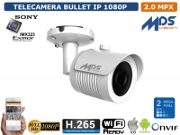 TELECAMERA BULLET IP 3.6MM 2.1 MPX SONY EXMOR WDR SMART IR-LED ONVIF WIFI REDY