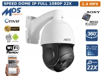 TELECAMERA HD-IP SPEED DOME CAMERA PTZ OSD 2.4 MPX MEGAPIXEL IP66 ESTERNO P2P