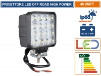 FARO PROIETTORE LED 48W OFF ROAD LUCE DI LAVORO SUPPLEMENTARE 12V - 24V IP68