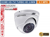 TELECAMERA DOME HD TVI HIKVISION TURBO HD 2.1MP 1080P 2.8MM VISIONE NOTTURNA