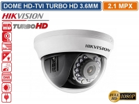 TELECAMERA DOME HD TVI HIKVISION TURBO HD 2.1MP 1080P 3.6MM VISIONE NOTTURNA