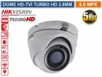 TELECAMERA DOME HD TVI HIKVISION TURBO HD 5MP 2560X1944 2.8MM VISIONE NOTTURNA