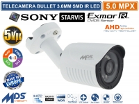 TELECAMERA IBRIDA 4in1 AHD TVI CVI CVBS 3,6mm 5.0MPX SONY STARVIS SMD IR LED UTC
