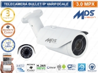 TELECAMERA BULLET IP 3 MP 2.8-12MM SMD IR LED 2048 X 1536 CON VIDEOANALISI IP66