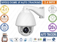 TELECAMERA SPEED DOME IP 2 MPX 1080P 20X CON AUTOTRACKING E WIPE ONVIF CLOUD P2P