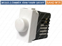 MODULO REGOLATORE DIMMER 100W-100W ON/OFF 220V 50/60Hz COMPATIBILE BTICINO MATIX