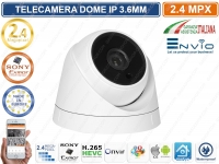 TELECAMERA IP DOME 2 MP SONY IMX323 3.6MM IR LED ONVIF IP66 P2P CLOUD APP XMEYE