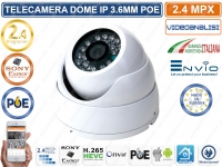 TELECAMERA DOME IP 2 MP 1080P 3.6MM 24 IR LED ONVIF POE CON VIDEOANALISI IP66 XMEYE