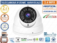 TELECAMERA DOME IP 2MP VARIFOCALE 1080P FULL HD ONVIF CON VIDEOANALISI P2P CLOUD