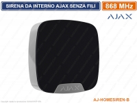 AJAX SIRENA DA INTERNO SENZA FILI 868MHZ AJ-HOMESIREN-B ALLARME WIRELESS NERO