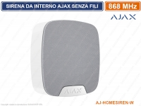 AJAX SIRENA DA INTERNO SENZA FILI 868MHZ AJ-HOMESIREN-W ALLARME WIRELESS BIANCO