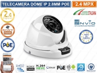 TELECAMERA DOME IP ONVIF POE 2 MEGAPIXEL 2.8MM 24 IR-LED 1080P SONY STARVIS IP66