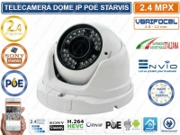 TELECAMERA DOME IP ONVIF POE 2 MP VARIFOCALE 2.8 - 12 MM 1080P SONY STARVIS IP66