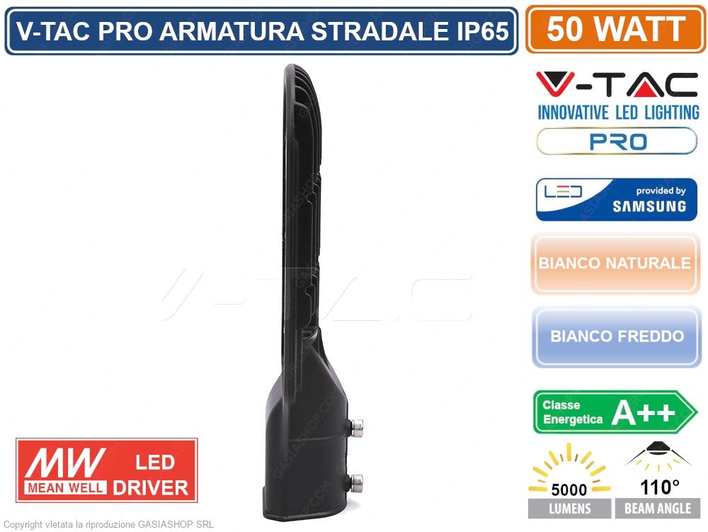 Lampada Stradale Led 50W Lampione SMD chip Samsung V-TAC PRO VT-51ST
