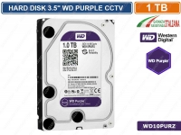 "HARD DISK HD 3,5"" SATA PURPLE 1000 GB 1TB 6Gb/s WESTERN DIGITAL WD10PURZ CCTV"