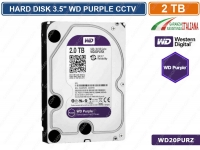 "HARD DISK HD 3,5"" SATA PURPLE 2000 GB 2TB 6Gb/s WESTERN DIGITAL WD20PURZ CCTV"