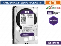"HARD DISK HD 3,5"" SATA PURPLE 6000 GB 6TB WESTERN DIGITAL WD60PURZ CCTV CAMERA"