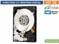 "HARD DISK HD 3,5"" INTERNO 500GB SATA WESTERN DIGITAL 5400RPM DVR CCTV WD5000AVDS"