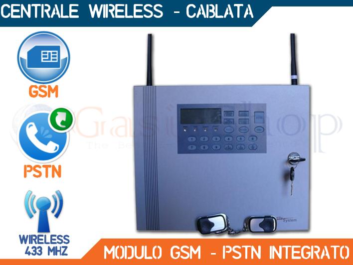 CENTRALE ANTIFURTO ALLARME GOLEM AK8-51 COMBINATORE GSM PSTN WIRELESS FILARE  eBay